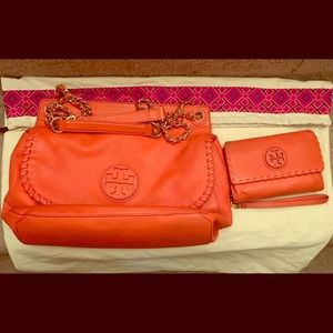 Tory Burch chain purse with wallet